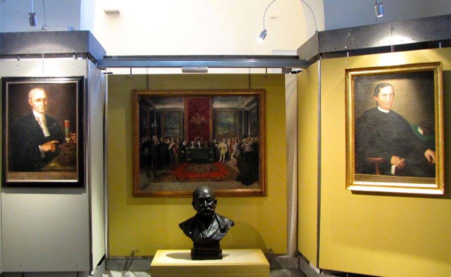 Una sala del museo delle mirabilia
