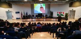 Studenti in aula magna del Di3A per Unistem Day 2018