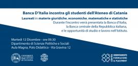 Banner Banca d'Italia incontra studenti unict