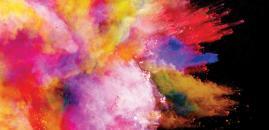 immagine simbolo di Famelab 2018 (esplosione di colori)