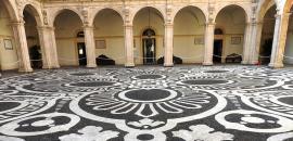Il cortile del Palazzo Centrale di Unict