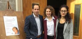 Lidia Raiti e Nicol Oddo con Nicolò Bongiorno