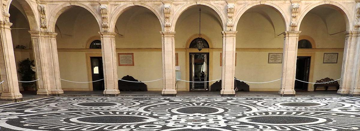 Il cortile del Palazzo Centrale