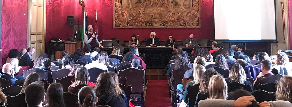 In foto un momento della presentazione nell'aula magna del Palazzo Centrale Unict