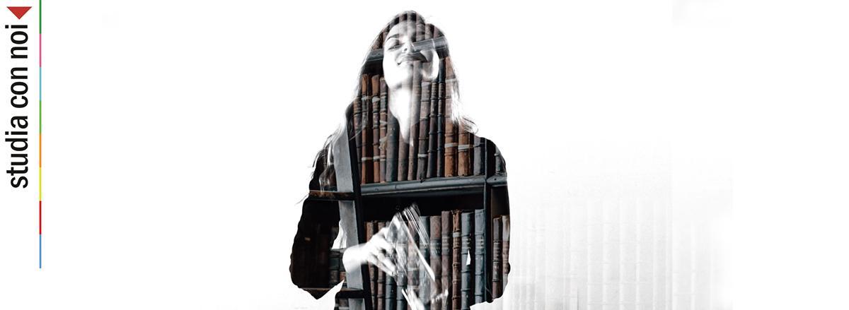 La studentessa Giulia Pafumi in un frame dello spot di Zammù TV